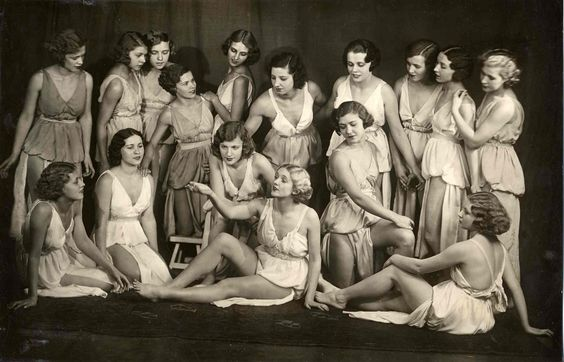 Members of Isadora Duncans School of Dance Moscow 1923